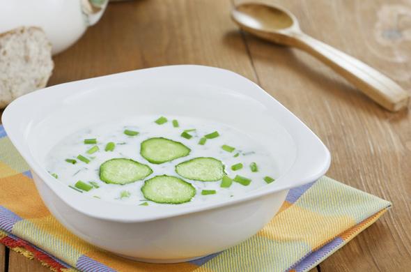 Verfrissende puree van tonijn met komkommer
